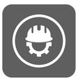 Development Hardhat Flat Squared Icon vector image