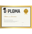 Diploma certificate template in in gold theme vector image vector image