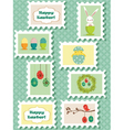 easter stamps vector image vector image