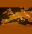Europe orange map big data