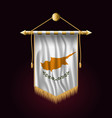 flag of cyprus festive vertical banner wall vector image