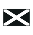flag of scotland saint andrews cross monochrome vector image