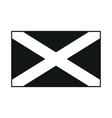 flag scotland saint andrews cross monochrome on vector image