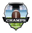 Football Champs Badge vector image vector image