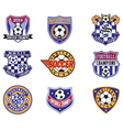 Football Soccer Badges Patches and Emblem vector image vector image