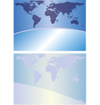 globe background vector image vector image