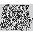 Graffiti font alphabet different letters vector image