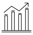 graph bars icon outline style vector image vector image