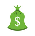 green bag money bank treasure sack vector image