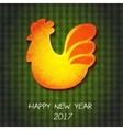 greeting card Happy New Year and Merry Christmas vector image vector image