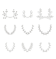 Hand-drawn branches graphic design elements set vector image vector image