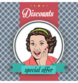 happy woman commercial retro clipart vector image
