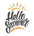 hello summer vintage emblem vector image vector image