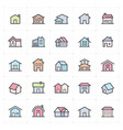 icon set - home icon full color vector image vector image