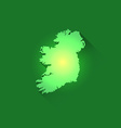 Irish Contour of Map vector image vector image