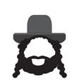 isolated rabbi icon vector image