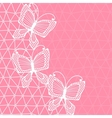 Lace background with butterflies vector image