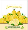 lemon fruit healthy food background vector image vector image