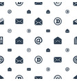 letter icons pattern seamless white background vector image vector image