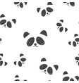 line art graphic black and white panda head vector image vector image