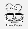 love coffee hand drawn vector image