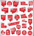 modern sale banners and labels red collection 04 vector image vector image