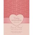 Modern wedding invitation pink vector image vector image