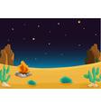 Night time Desert vector image vector image