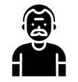 old man avatar solid style icon vector image vector image