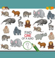 one of a kind game worksheet vector image vector image