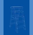 outline household steps vector image