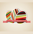 paper card easter eggs vector image vector image