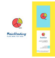pie chart creative logo and business card vector image vector image