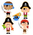 pirate children vector image