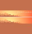 portland beautiful skyline scenery banner vector image