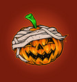 pumpkins halloween mascot horror vector image