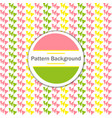 retro pattern of geometric shapes colorful banner vector image vector image
