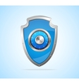 Security concept Shield and padlock vector image