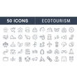 Set Flat Line Icons Ecotourism