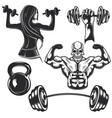 set gym elements vector image vector image