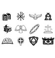 set of christian icons vector image vector image