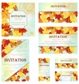Set of Invitation Cards vector image