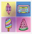 set of pop art cartoons vector image vector image