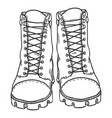 sketch - high leather army boots front view