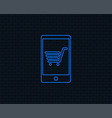 smartphone with shopping cart sign icon vector image