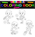 soccer coloring book vector image