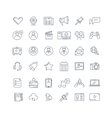 Social media network line icons set vector image vector image
