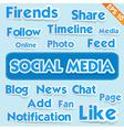 Social media wording - - EPS10 vector image