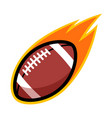 sport ball fire american football vector image vector image