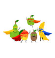 superhero fruits team vector image